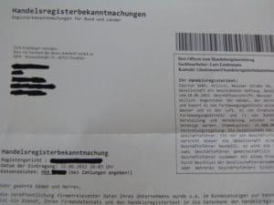Handelsregisterbekanntmachungen HRB Tailor GmbH
